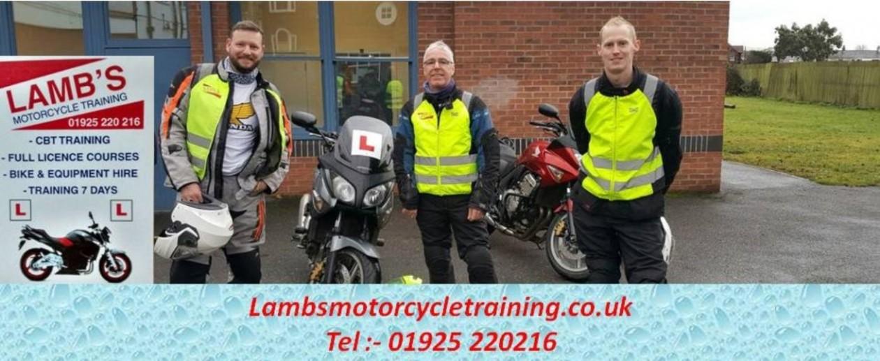 Lamb's Motorcycle Training – 01925 220 216