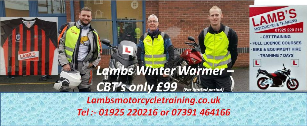 Lamb's Motorcycle Training – 01925 220 216